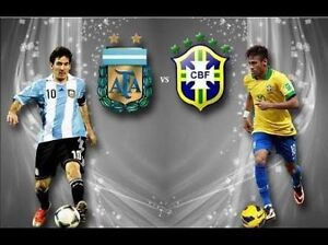3 Tickets for Argentina vs Brazil Football match Rockdale Rockdale Area Preview