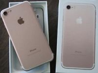 Apple iPhone 7 32gb rose gold pristine 3 months old