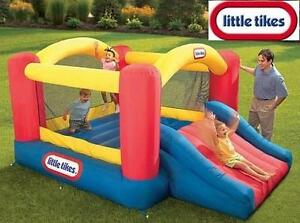 NEW LITTLE TIKES JUMP BOUNCER JUMP 'N SLIDE BOUNCER - INFLATABLE TOY - 3 TO 8 YEARS OUTDOOR SLIDES BOUNCERS 101066760