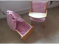 Ladybird dolls cot and highchair play set
