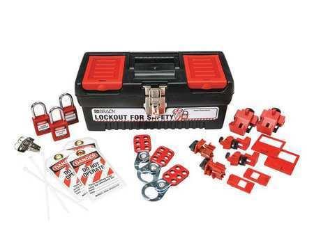 Brady 105964 Portable Lockout Kit,Blk,Electrical,17