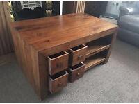 Soild mango tv cabinet / unit very heavy