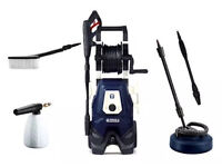 Spear and Jackson 2000w Pressure Washer with Turbo Lance, Vario Lance, Patio Cleaner,... Brand new