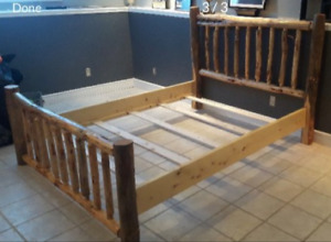 Custom Queen Log Bed Frame
