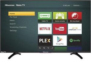 LED Television 43 43R6107 4K UHD HDR ROKU SMART WI-FI HISENSE