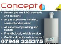 All Gas, Plumbing and Central Heating work