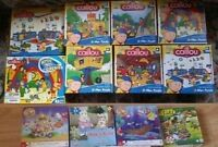 Like New Caillou Toopy Binoo Max & Ruby Dinosaur Kids Puzzles