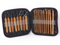 Brand new set of Bamboo crochet hooks