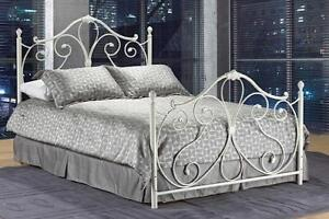 White Queen Metal Bed web exclusive deal (IF698)