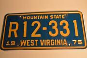 Vintage West Virginia License Plate