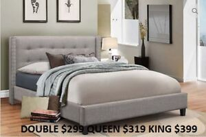 MIKES GOT NEW PLATFORM BEDS IN ALL SIZES AND MANY COLOURS $279!