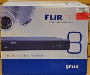 Ensemble de 8 cameras de surveillance,dvr et boitier d'alimentation Flir NEUF