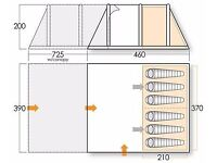 Vango Icarus 600 enclosed front Canopy