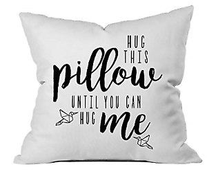 c539c208 Oh, Susannah Hug This Pillow Until You Can Hug Me 18x18 Throw Pillow Cover  Gifts