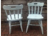 Two Shabby Chic Dining Chairs