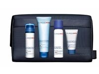 Clarins Men Grooming Essentials - 4 Perfect Products & StylishTravel Case