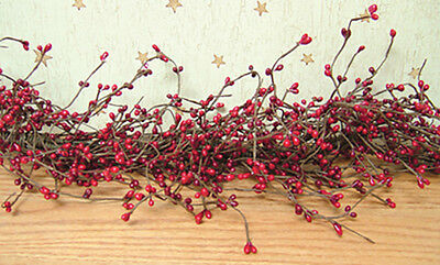 """Pip Berry Garland in Red & Burgundy - 4' / 4 FT / 48"""" - Christmas Patriotic  for sale  Columbus"""