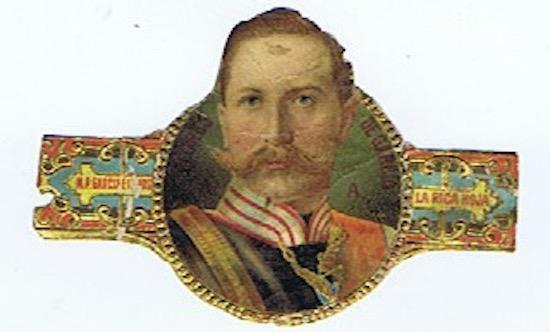 Kaiser Wilhelm  World War I La Rica Hoja M. P. Garcia  Mexico cigar band #247