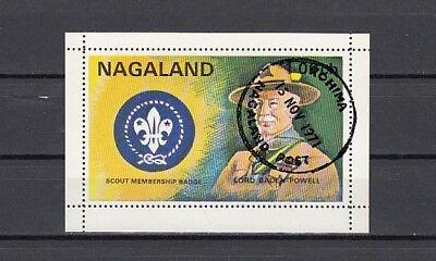 Nagaland, 1971 India Local. Scouting S/sheet. Canceled. - $1.00
