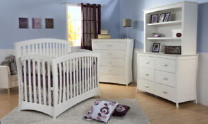 3-in-1 Crib to Toddler Bed to Full Double Bed