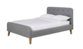 Small double bed (grey)