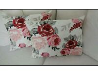 Laura Ashley embroidered Chiswick cushions x 4