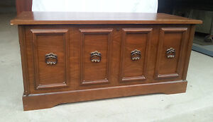 Solid wood chest with cedar lining