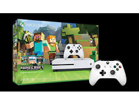 BRAND NEW SEALED XBOX ONE S WHITE + MINECRAFT + EXTRA CONTROLLER [BLACK OR WHITE] BARGAIN