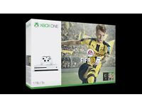 Xbox one S white, with fifa 17, 500gb, very good condition + Headset