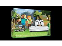 X BOX ONE MINECRAFT EDITION - NEW UNBOXED PLUS 1 GAME EXTRA