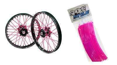 Spoke Style Speichen Cover Überzug MX Motocross Pink SpokeStyle
