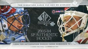 2003-04 SP Authentic - Boîte - Cartes de hockey