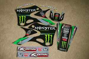 TEAM KAWASAKI GRAPHICS KX125 KX250 1999 2000 2001 2002