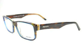 PRADA GLASSES SPECTACLES VPR 16M ZXH-101 140 TORTOISE ARM AND FRAME - BLUE RIM