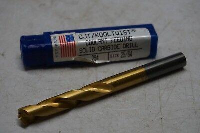 """New CJT Kool Twist Carbide Tipped Coolant Feeding Drill Bit Size 15//32/"""""""