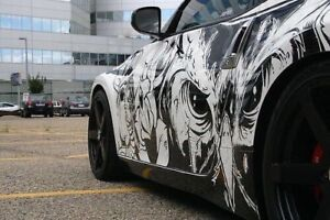 Top Car Wrap, Decal & Lettering, Vinyl Stickers Perforated