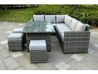 Grey Rattan garden set