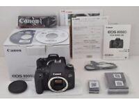 *MINT* Canon EOS 8000D (T6s/760D) 24.2MP DSLR Camera + NEW Canon EF-S 55-250mm f/4-5.6 IS STM Lens