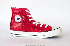 sparkly red converse