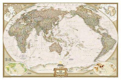 World Executive, Pacific Centered, laminated Wall Maps-9781597751186- NG-104