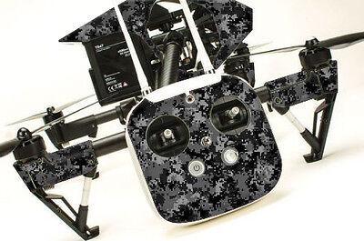 DJI Inspire 1 Quadcopter/Drone, Wrap/Skin, Transmitter   Digital Camo Black