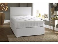 double Divan Bed With 1000 pocket sprung double Mattress n black brown white mattress
