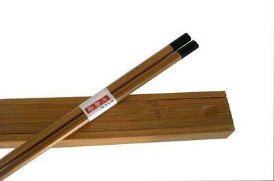 Japanese Bamboo Travel Chopsticks w/Case Black S-3157