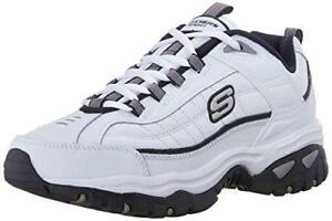 5ab6247591b332 Skechers Sport Mens Energy Afterburn Lace-up Sneaker White navy 11 M ...