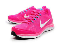 UK 4.5 NIKE Dual Fusion Run 3 Ladies Trainers 653594 600 Hot Pink / White / Blue