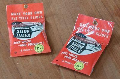 Slide titles Titres pour diapositives Make your own titles 2 paquets de 6 pièces