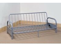 Metal sofa bed frame double. Dismantled and ready to move.