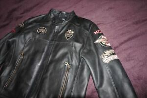 Ducati Historical Leather Motorcycle Jacket Men's L