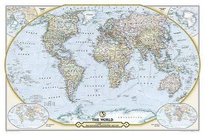 National Geographic  125th Anniversary World Map Laminated-9781597755290- NG-110