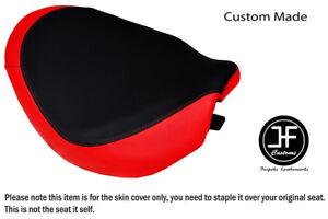 BLACK & RED VINYL CUSTOM FITS SUZUKI INTRUDER VZ 800 12-15 FRONT SEAT COVER ONLY